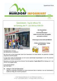 Gemeindezeitung Sommer 2016